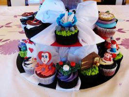 Cupcakes in Wonderland by I-am-Ginger-Pops