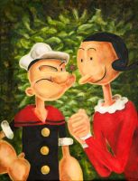 Popeye and Olive Oyl by Fruksion