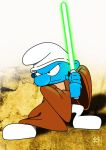 Jedi Smurf by TheWarrigul