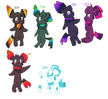 some lame pichu adoptables by Celestial-Trance