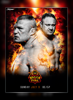 WWE Great Balls Of Fire - Poster by ShahzamanAbbasi