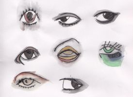 watercolour eyes by dancehall21