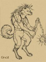 Gnoll by iara-art
