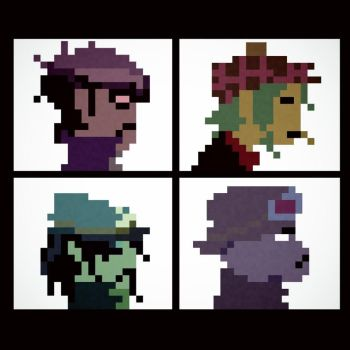 Gorillaz Demon Days 8 bit Album Cover by MorganYoung