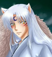 Doggy Sesshomaru by Misuzee