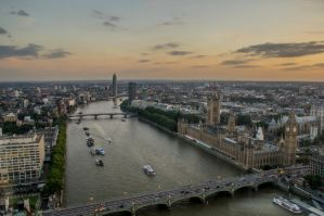 London Sundown by Kaz-D