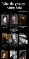 What The Greatest Artists Said by SweetMonia