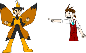 The Monarch and Apollo Justice by X-Octavius