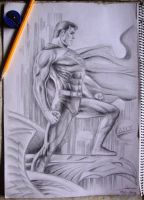 Man of Steel (Redraw from Jim Lee's art) by Ianrialdi