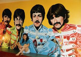 Beatles - Finished by MeyersMurals