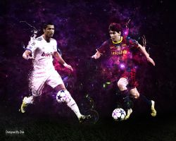 Cristiano Ronaldo and Messi by Zinovitch