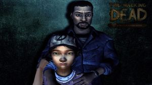 Lee And Clementine: The walking dead game by XHaloMMDArtX