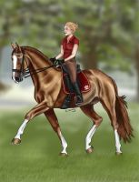 Royal Red Dressage by nnicaa
