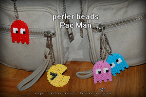 Perler Beads Pac Man tags by angelicetherreality