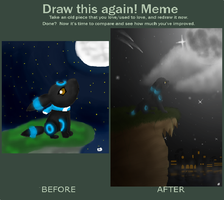 Umbreon Before - After by BoWhatElse