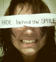 She Hides Behind This Smile by silvermoonlight13