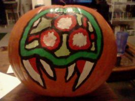 Metroid Pumpkin 2010 by THUNDRkitty