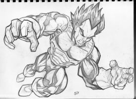 Dragon Ball Z: Vegeta by SlyAguilar