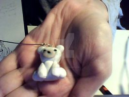 polymer clay- polar bear by Aiko-Hirocho