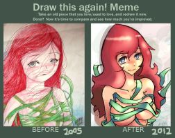 draw this again meme by elquijote