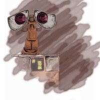 Wall-E Painting 08-07-08 by CrimsonWalker