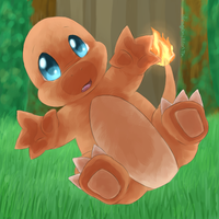 A Wild Charmander Appeared! by dragoniteon