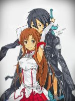 Asuna and Kirito by BetaSix