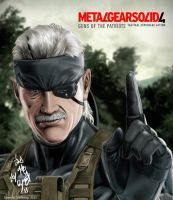 Solid Snake - old with Solid Eye by ppleong