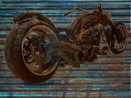 STEAMPUNKED HARLEY by COLOREDINLOVE