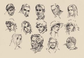 Faces sketch study 7 by SILENTJUSTICE