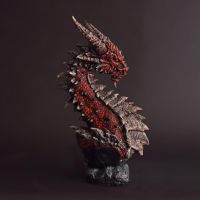 Red Dragon Bust by FritoFrito