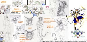 Agar Sabier's Evolution 2001 to 2014 by Gneiss-chert