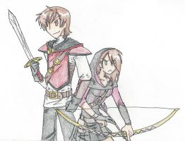 My Knight and My Bow by RaiinbowRaven