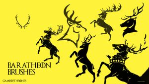 House Baratheon Brushes GoT Font by saracennegative