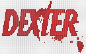 Dexter logo x-stitch patten by NurseTab