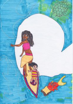 Moana and Lilo by sezzac155