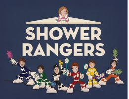 Shower Rangers by Catriana-Dreamwing