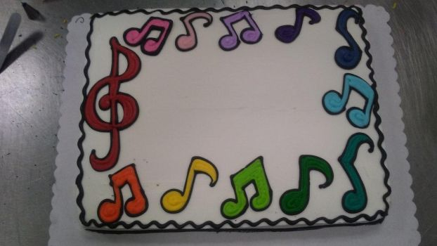 musical note cake by PlayerNamedQuix
