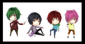 Sadist Chibis Adopts -closed- by monochromatic-cafe