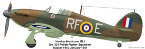 Hawker Hurricane Mk.I, 303th Fighter Squadron by Jeremak-J