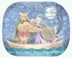 Owl and Pussycat by carmenmedlin