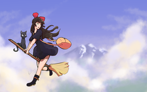 Flying Witch Makoto's Delivery Service by DarkFlame75