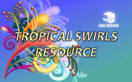 Tropical Swirls RESOURCE by gabrielrain