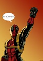 Photoshop practice: Deadpool by onyx-forerunner