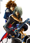 Sora and Riku by Chadkroeger