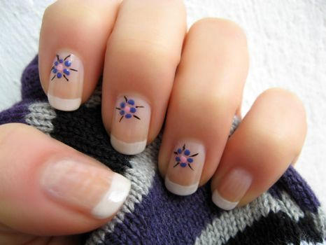 French Flower Manicure part1 by xzibitka