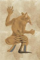 Female Were-thylacine by gothicwolfcorpse