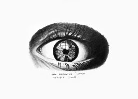 Eye Drawing by mark-flammable