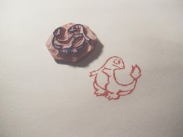 Charmander Linocut by smallcapsco