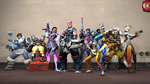 Overwatch Fortress 2 by ArgetKnight